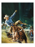 Cowboy Reproduction procédé giclée par Gerry Wood