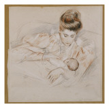 Mother and Child Giclee Print by Paul César Helleu