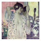 The Hand Mirror Giclee Print by Frederick Carl Frieseke