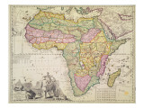 Map of Africa Giclee Print by Schenk
