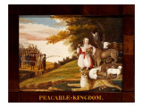Peaceable Kingdom Impresso gicle por Edward Hicks