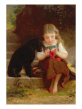 Best of Friends Premium Giclee Print by Emile Munier