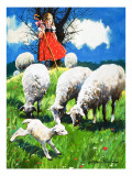 Little Bo Peep Premium Giclee Print by Jesus Blasco