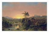 Sunset in Equador Giclee Print by Frederic Edwin Church