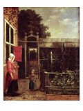The Soap Bubbles Giclee Print by Pieter de Hooch