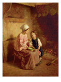 Supper Time Premium Giclee Print by Charles Edouard Frere