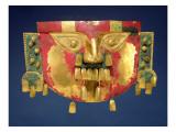Inca Mask Giclee Print by  Peruvian School