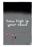 How High Is Your Cow Grey Prints by Pascal Normand