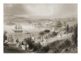 The Cove of Cork Premium Giclee Print by William Henry Bartlett