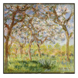 Spring at Giverny Giclee Print by Claude Monet