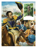 Simon Bolivar Giclee Print by Andrew Howat