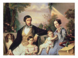 Parisian Family Giclee Print by Giuseppe Tominz