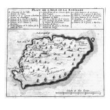 Map of Barbados Giclee Print by  French School
