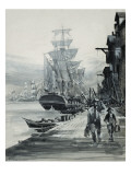 Port Scene Giclee Print by Graham Coton