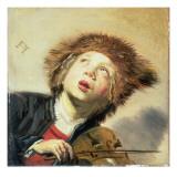 A Boy with a Viol Reproduction procédé giclée par Frans Hals