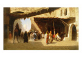 A Cafe in Cairo Giclee Print by Charles Theodore Frere
