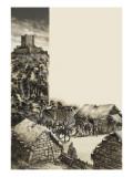 Medieval Village Giclee Print by Ron Embleton
