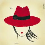 Red Borsalino Posters by E. Serine