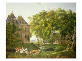 The Village Pond Premium Giclee Print by  Dutch School