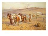 Ploughing Giclee Print by Joseph Harold Swanwick