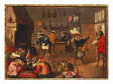 The Monkey Cooks Giclee Print by David Teniers the Younger