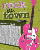 Rock in the Town Poster by Suzie Q.