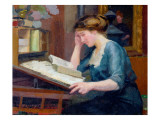 Reading Giclee Print by Jules Ernest Renoux