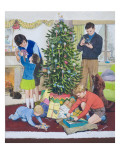 Christmas Morning Giclee Print by Clive Uptton