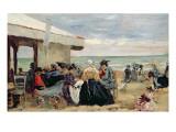 A Beach Scene Giclee Print by Eugène Boudin