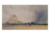 Mont Saint Michel Giclee Print by Richard Parkes Bonington