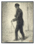 Walking, C.1882 Giclee Print by Georges Seurat