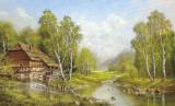 Old Mill Cottage Plakat af Helmut Glassl