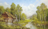 Old Mill Cottage Print by Helmut Glassl