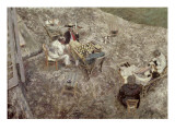 The Checker Board Gicl&#233;e-Druck von Edouard Vuillard