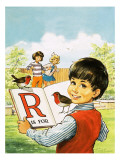 R Is for Robin Giclee Print by Jesus Blasco