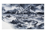 Storm at Sea Giclee Print by Paul Rainer