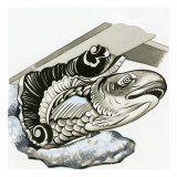 Fish Gargoyle Giclee Print by  English School
