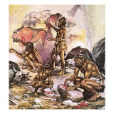 Cave Artists Giclee Print by Ron Embleton