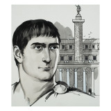 Emperor Trajan Giclee Print by Mcbride 
