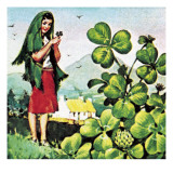 Shamrock Giclee Print by English School