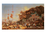 A Market in Macao Giclee Print by Auguste Borget