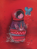 Fleur de Papillon Posters by Marie-pierre Emorine