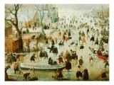 Winter Games Giclée-tryk af Avercamp