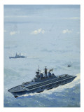 Hms Invincible Giclee Print by John S. Smith