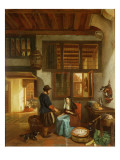 A Dutch Interior Giclee Print by Hubertus van Hove