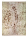 Study for David Giclee Print by Michelangelo Buonarroti