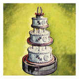Wedding Cake Giclee Print by  English School