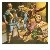 Pirates at Work Giclee Print by Ron Embleton