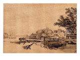The Jetty Premium Giclee Print by  Rembrandt van Rijn