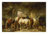 The Stable Giclee Print by Wouterus Verschuur
